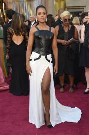 Kerry rocking the gladiator-esque dress