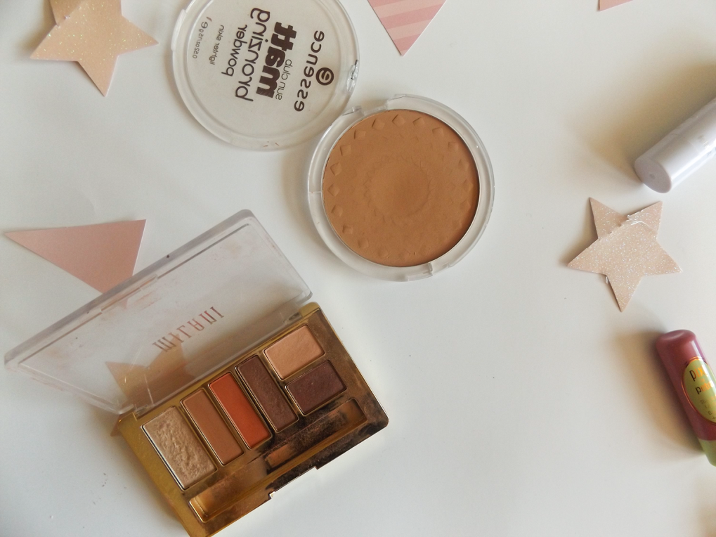 Essence bronzer and Milani earthy elements