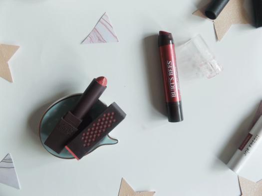 Burts Bees glossy lipstick and