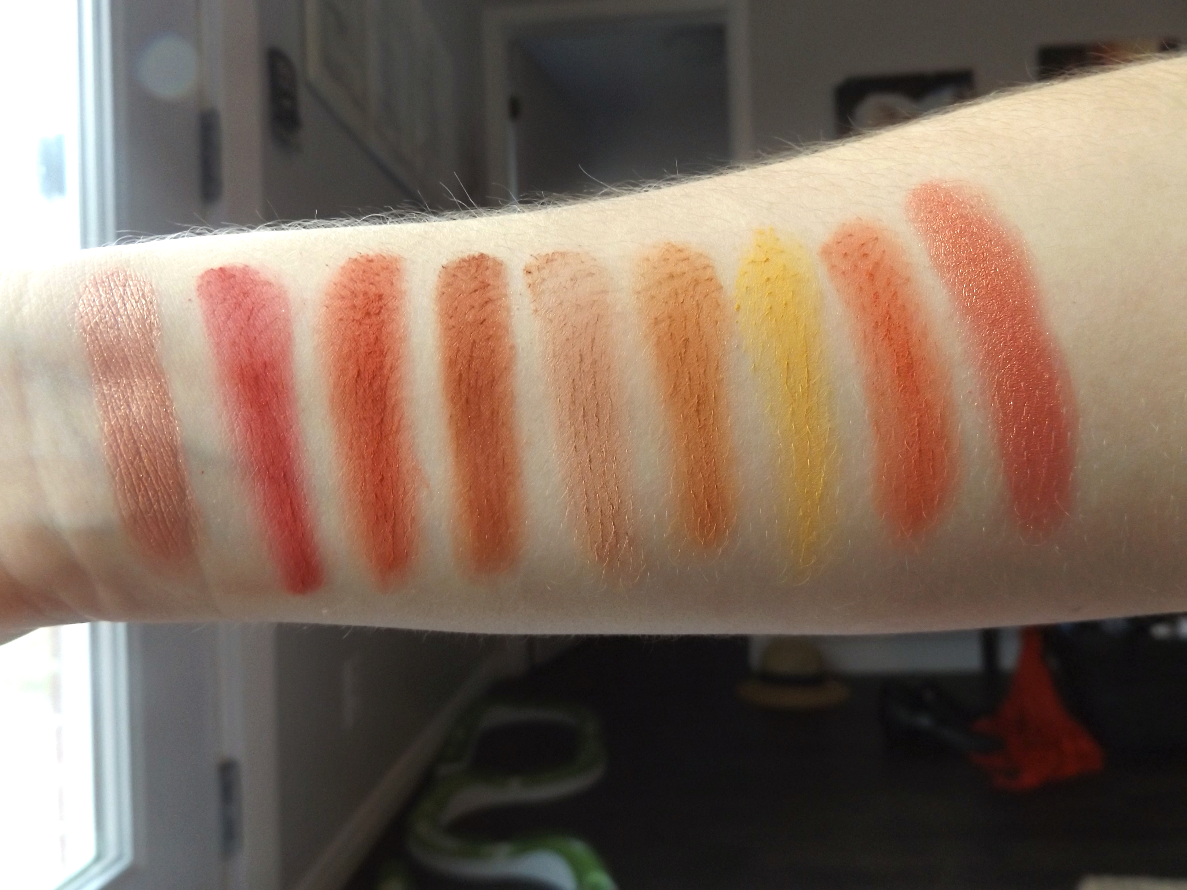 coral swatches