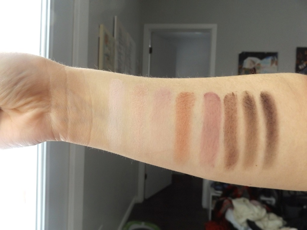 covergirl roses swatches on arm - light skin