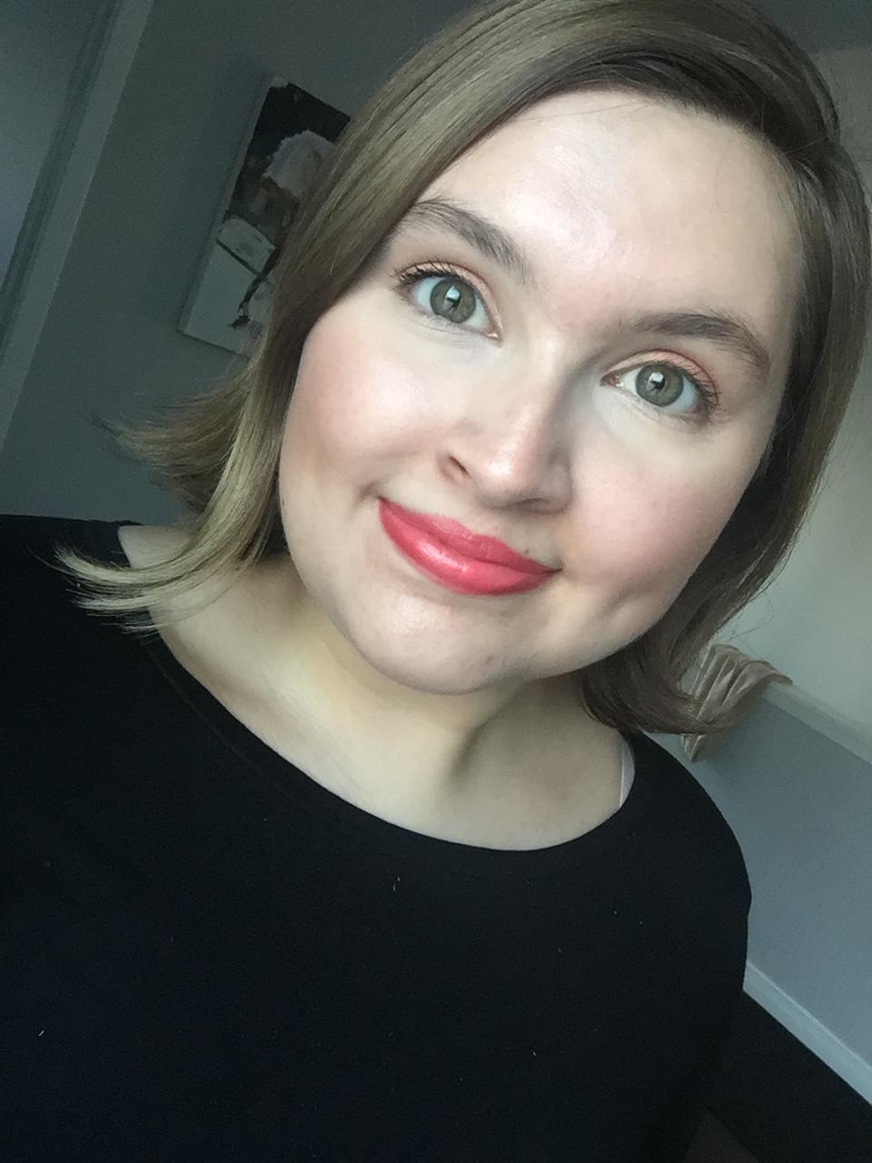 Me wearing the colourpop no filter concealer