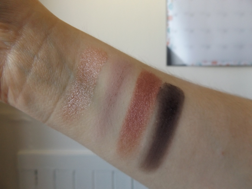 Swatches of Rosewater quad