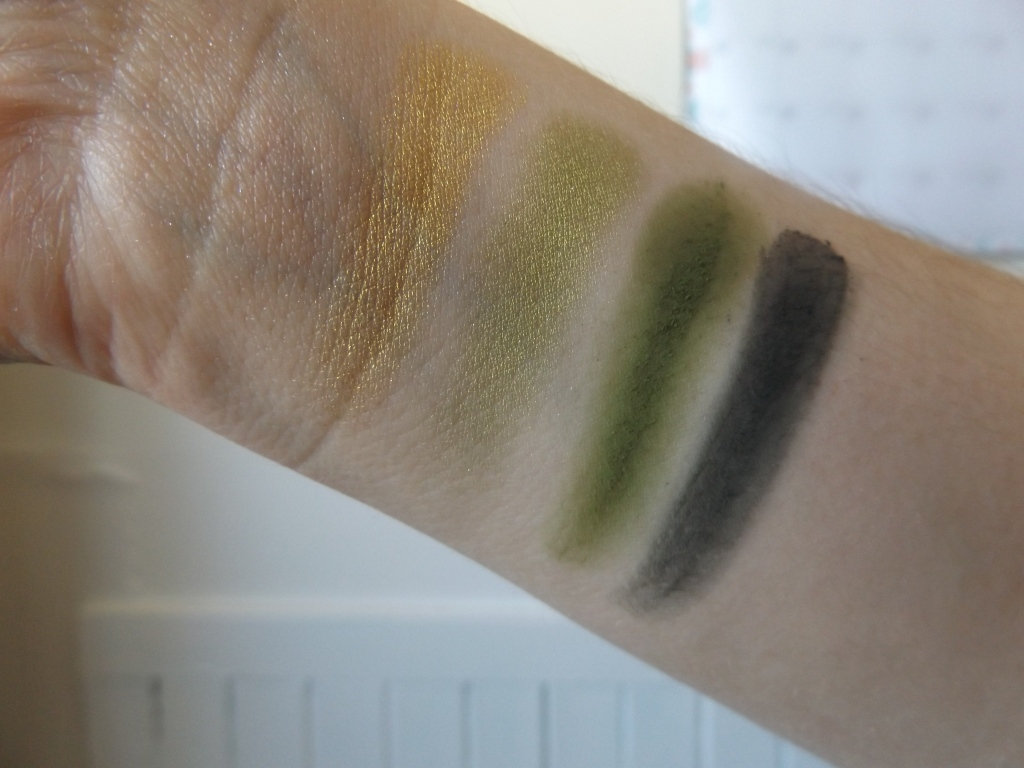 Swatches of the hot Jalapeno Quad